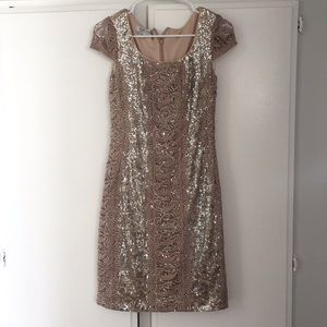 Kay Unger sequined mother of bride dress. Sz 2
